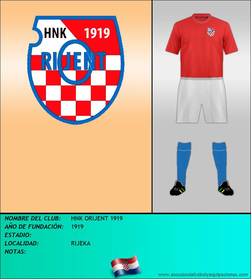 Escudo de HNK ORIJENT 1919