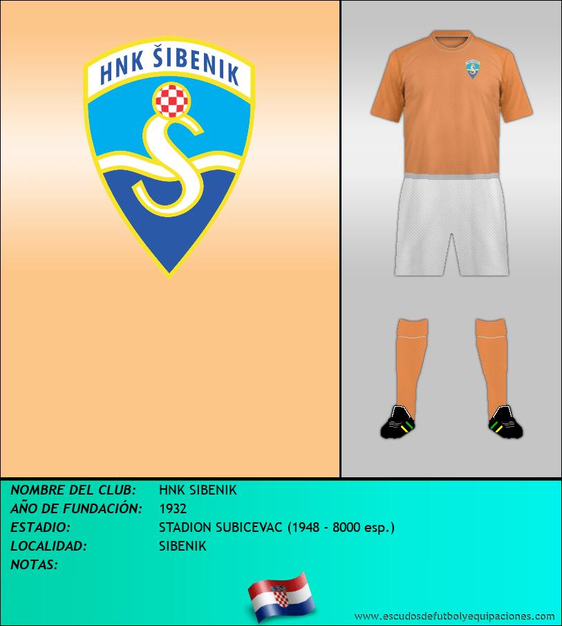 Escudo de HNK SIBENIK