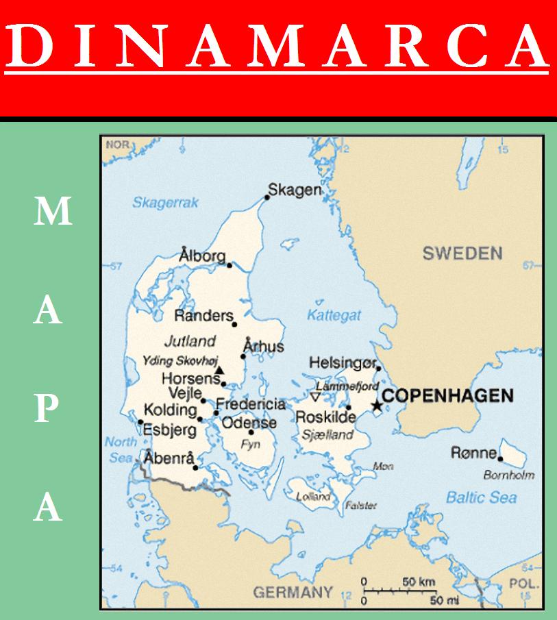 Escudo de MAPA DE DINAMARCA
