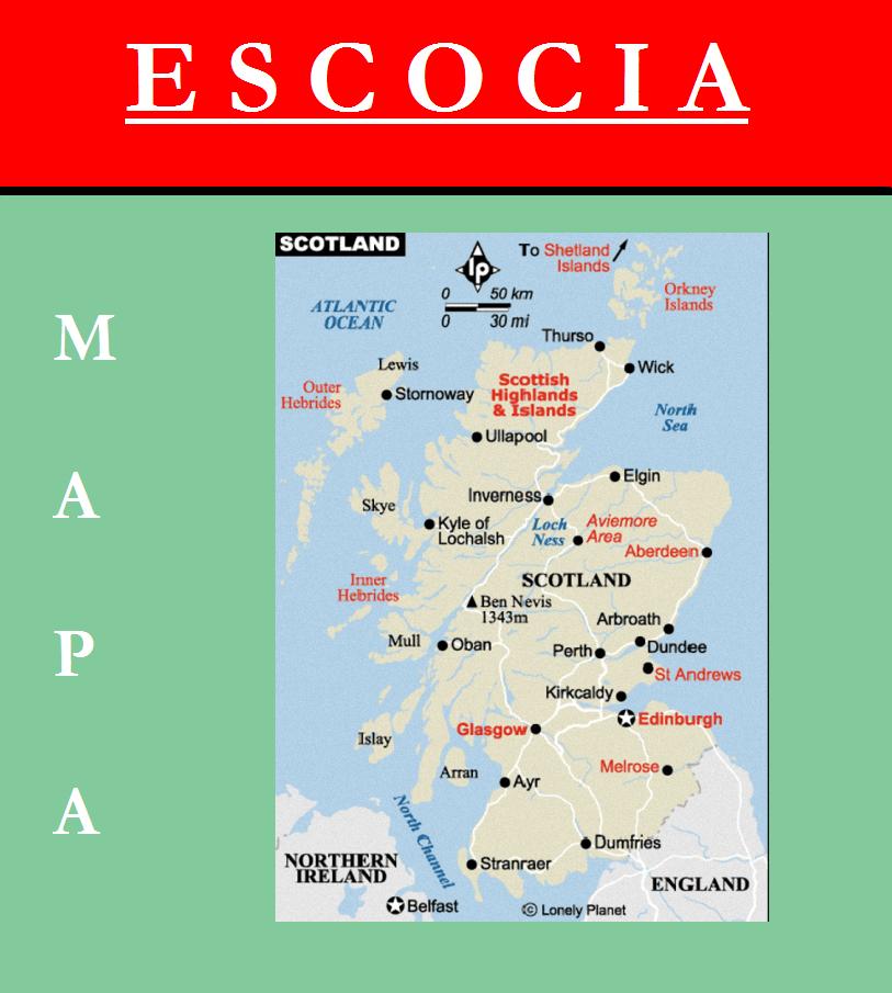 Escudo de MAPA DE ESCOCIA