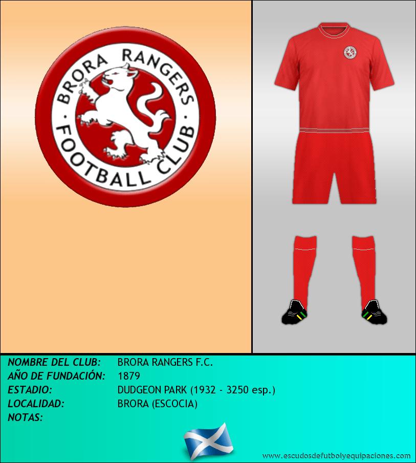 Escudo de BRORA RANGERS F.C.