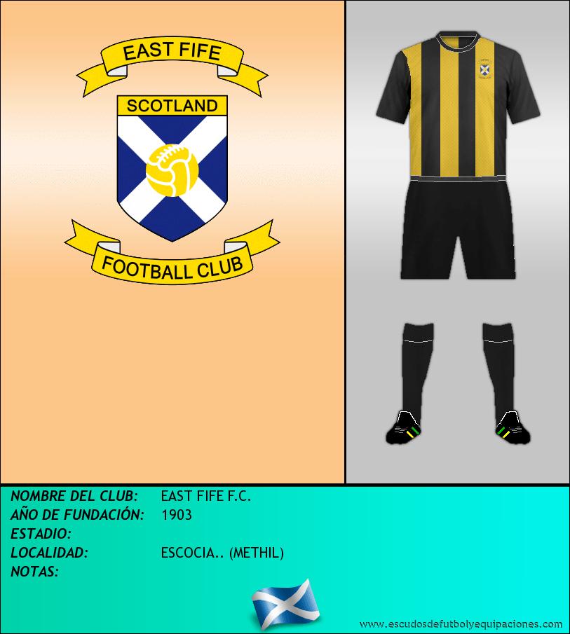 Escudo de EAST FIFE F.C.