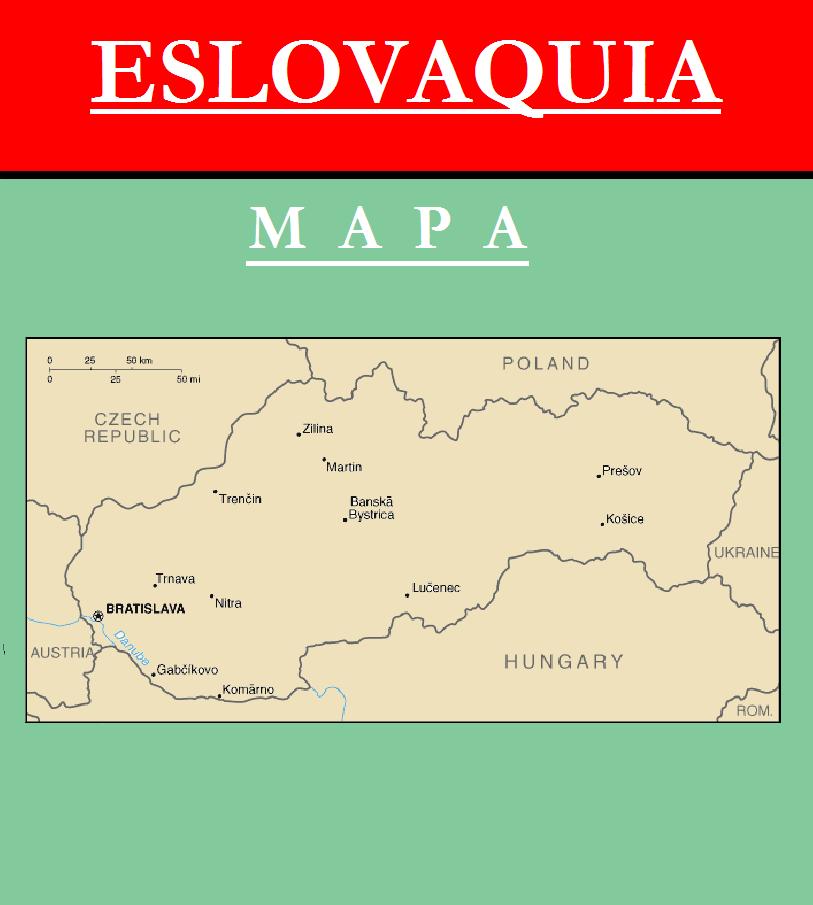 Escudo de MAPA DE ESLOVAQUIA