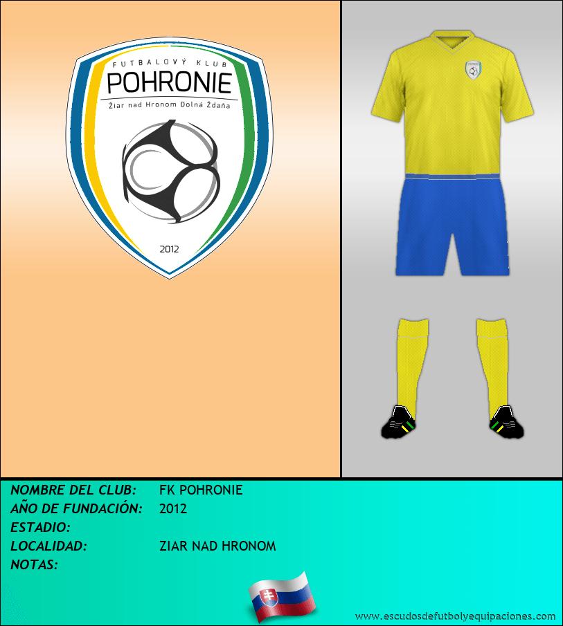 Escudo de FK POHRONIE