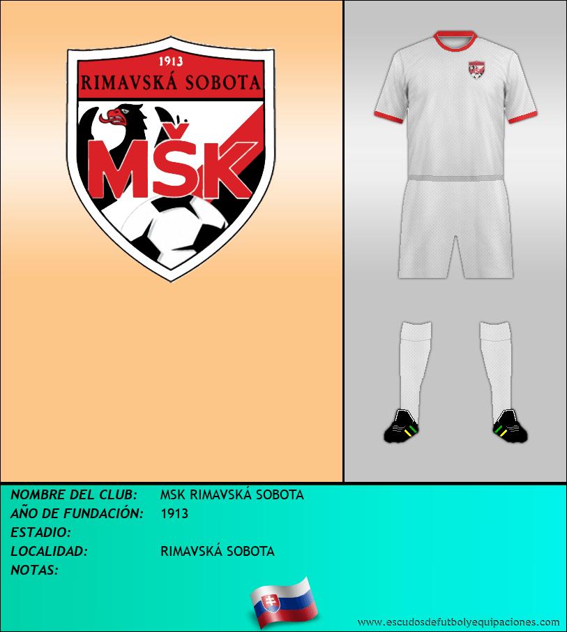 Escudo de MSK RIMAVSKÁ SOBOTA
