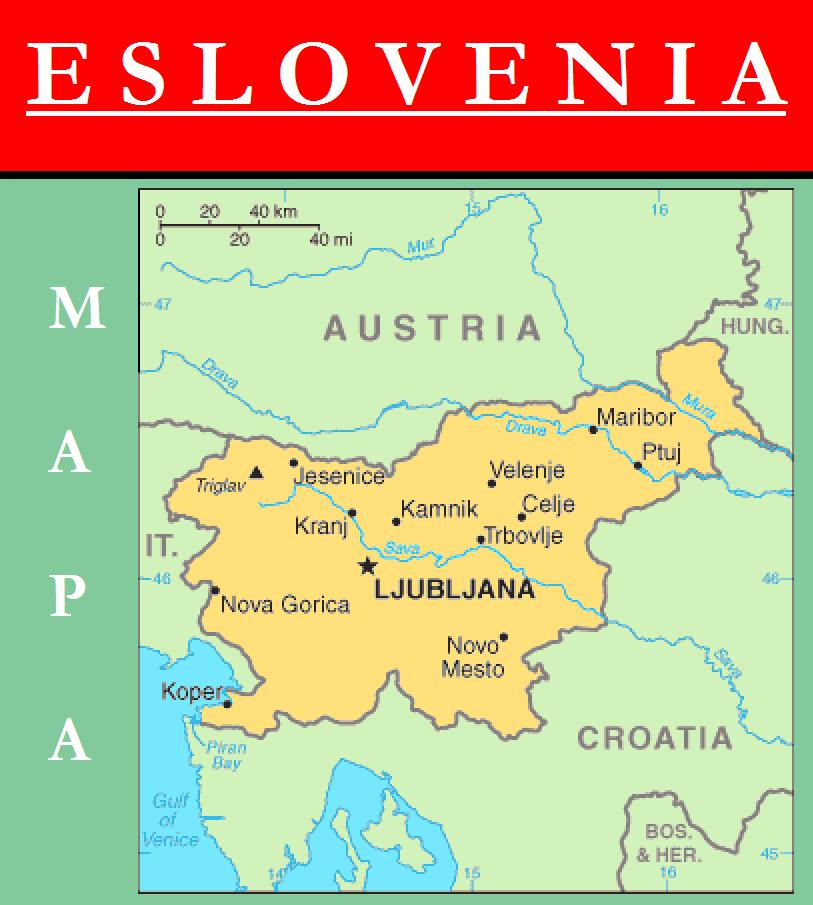 Escudo de MAPA DE ESLOVENIA