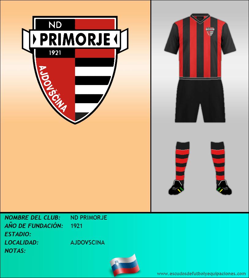 Escudo de ND PRIMORJE