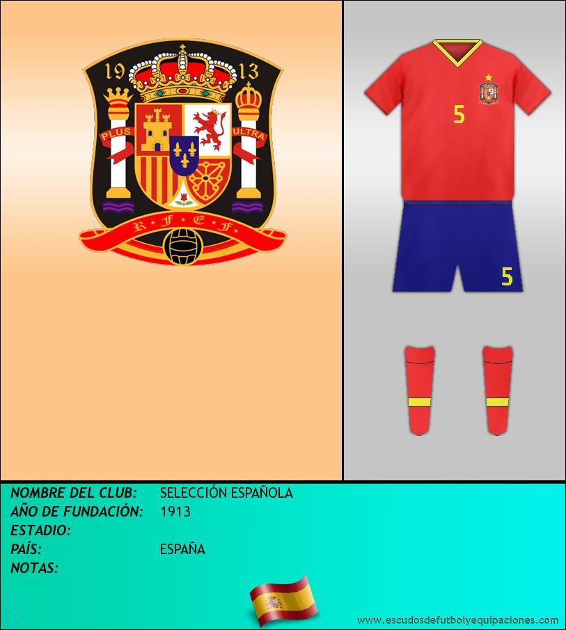 Escudo de SELECCIÓN ESPAÑOLA