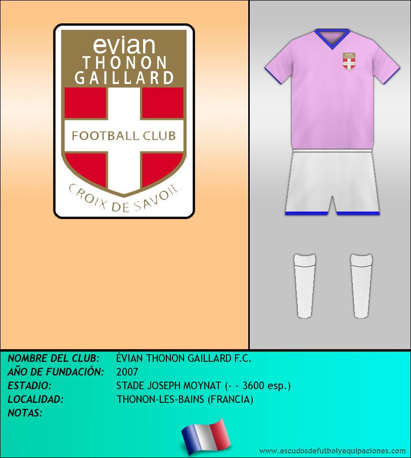 Escudo de ÉVIAN THONON GAILLARD F.C.