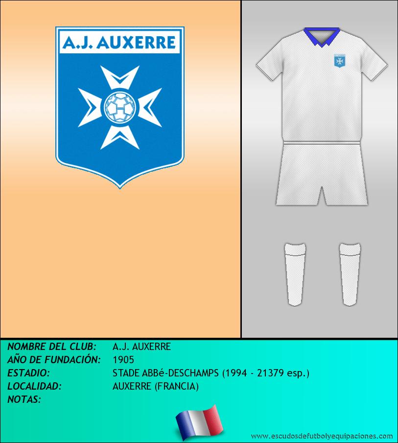 Escudo de A.J. AUXERRE