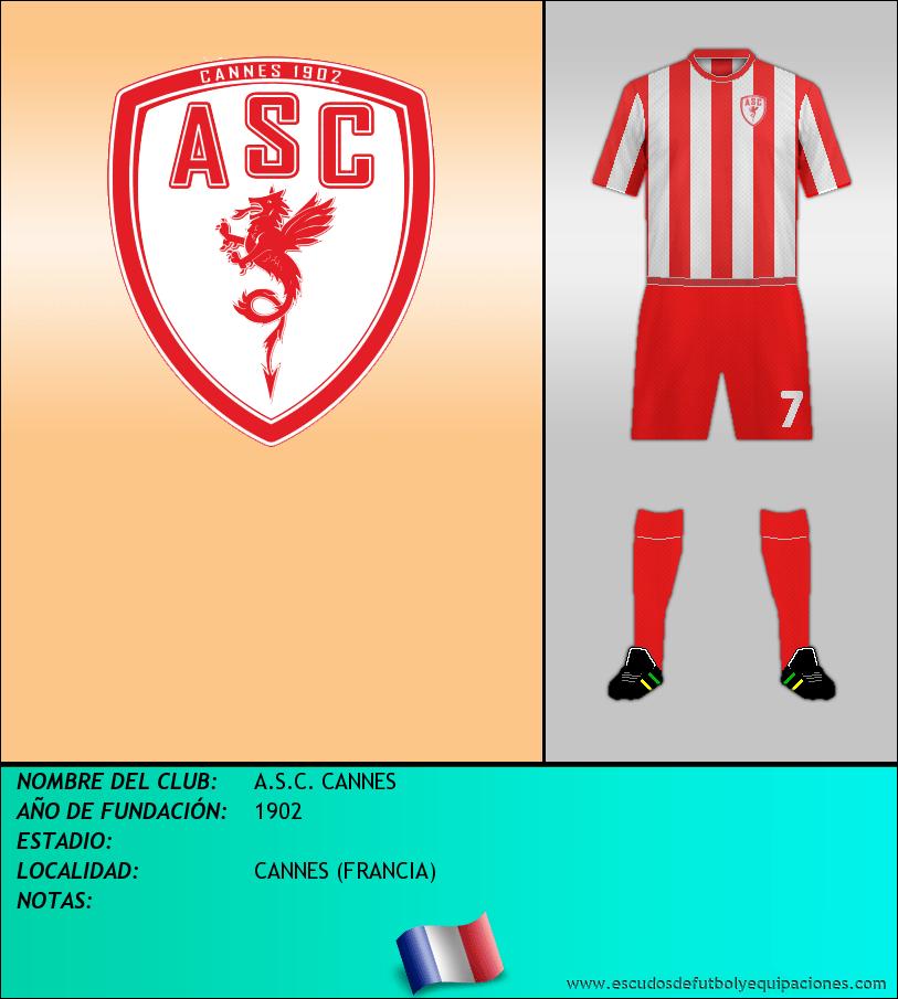 Escudo de A.S.C. CANNES