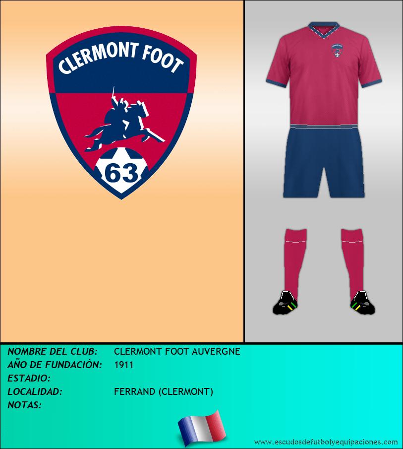 Escudo de CLERMONT FOOT AUVERGNE