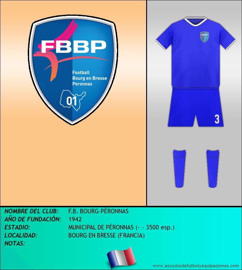 Escudo de F.B. BOURG-PÉRONNAS