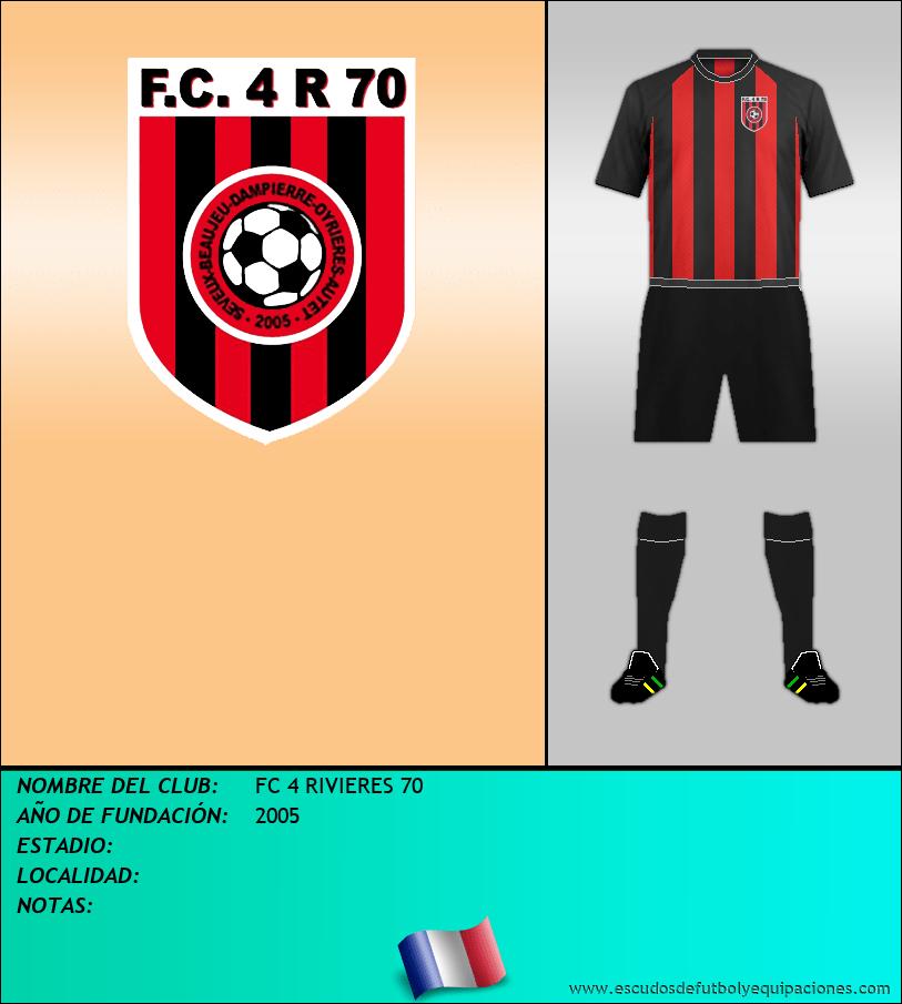 Escudo de FC 4 RIVIERES 70