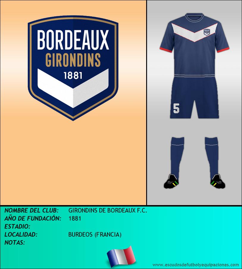Escudo de GIRONDINS DE BORDEAUX F.C.