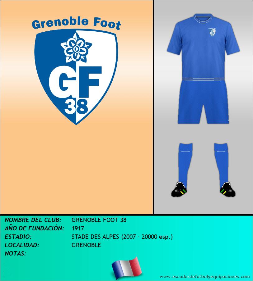 Escudo de GRENOBLE FOOT 38