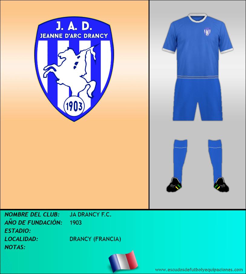 Escudo de JA DRANCY F.C.