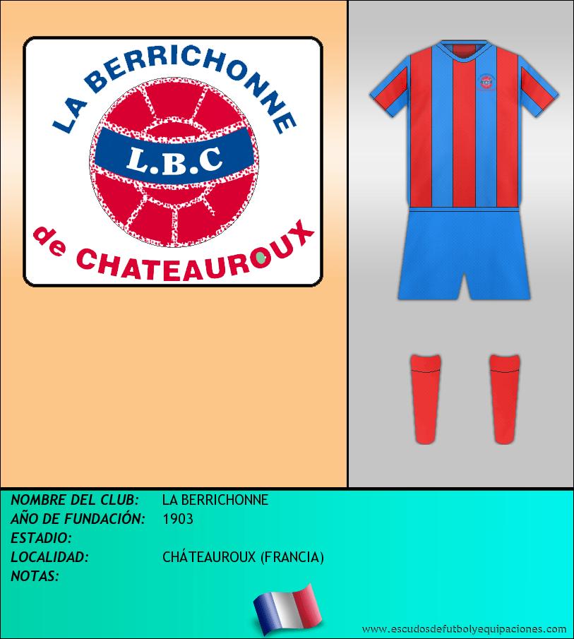 Escudo de LA BERRICHONNE