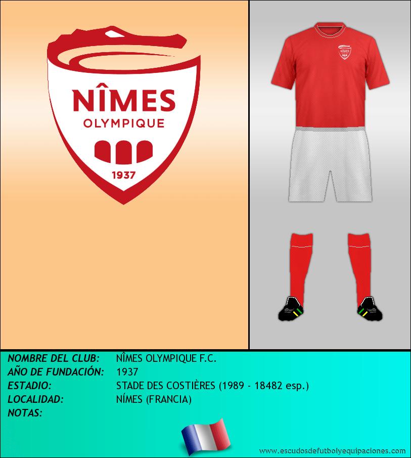 Escudo de NÎMES OLYMPIQUE F.C.