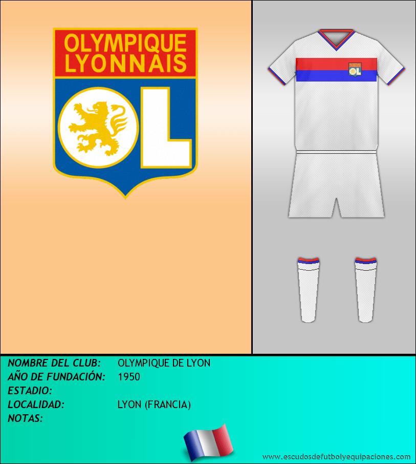 Escudo de OLYMPIQUE DE LYON