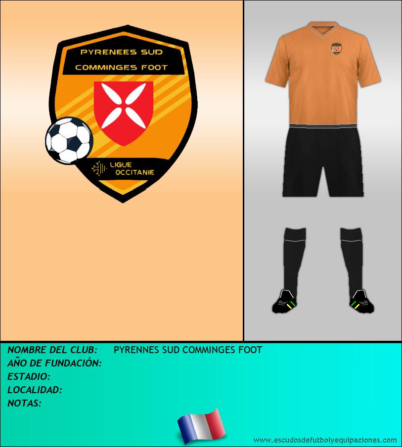 Escudo de PYRENNES SUD COMMINGES FOOT