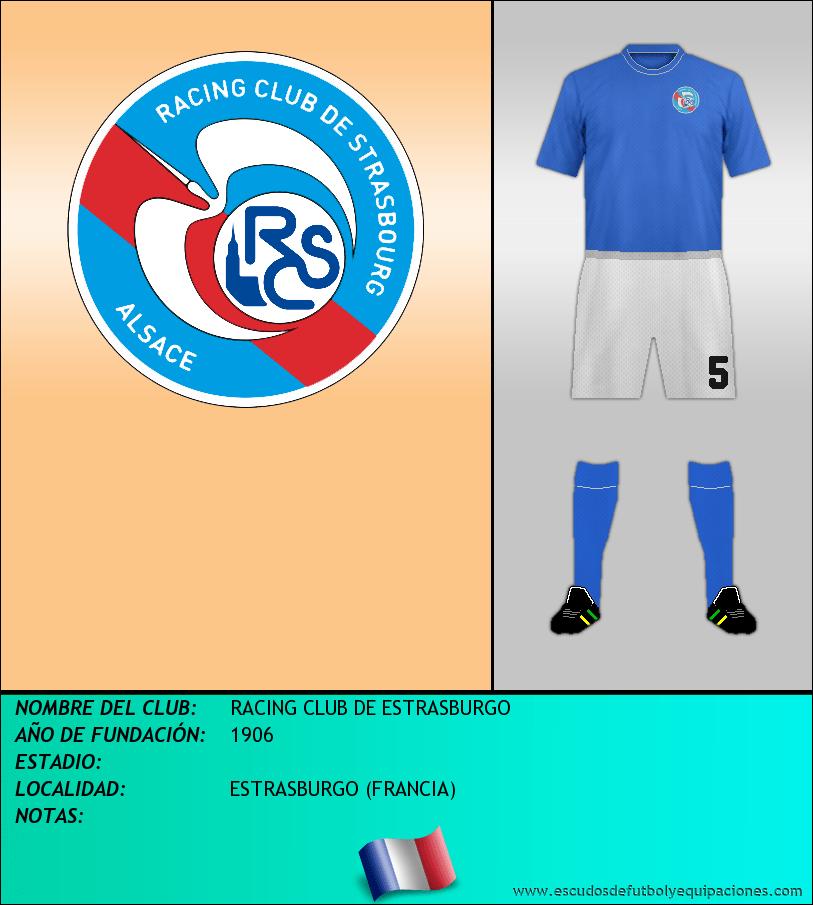 Escudo de RACING CLUB DE ESTRASBURGO
