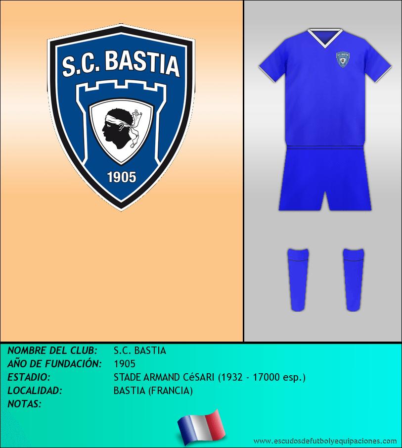 Escudo de S.C. BASTIA