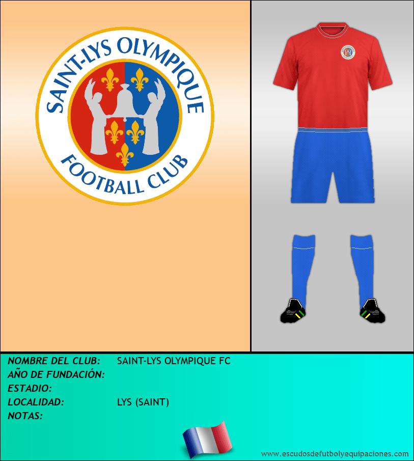 Escudo de SAINT-LYS OLYMPIQUE FC