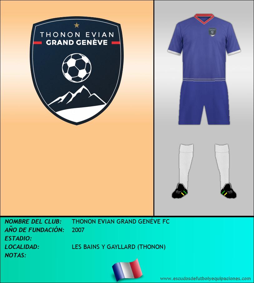 Escudo de THONON EVIAN GRAND GENÉVE FC