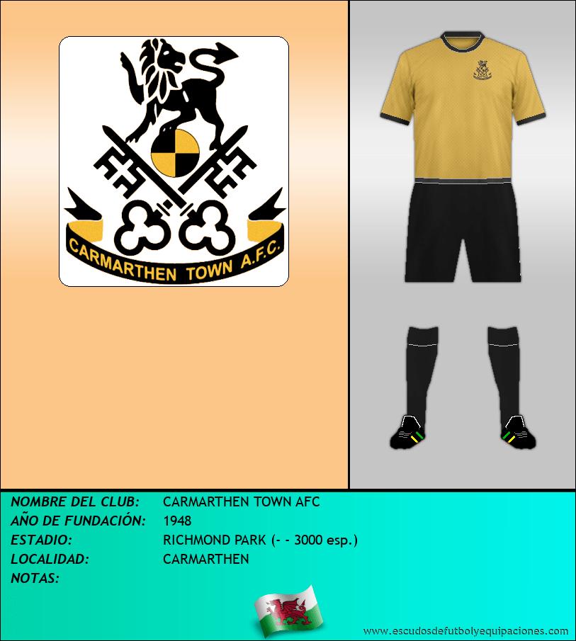 Escudo de CARMARTHEN TOWN AFC