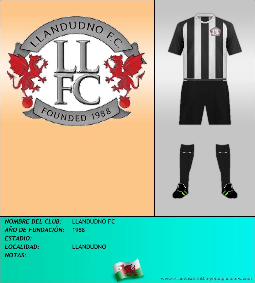 Escudo de LLANDUDNO FC