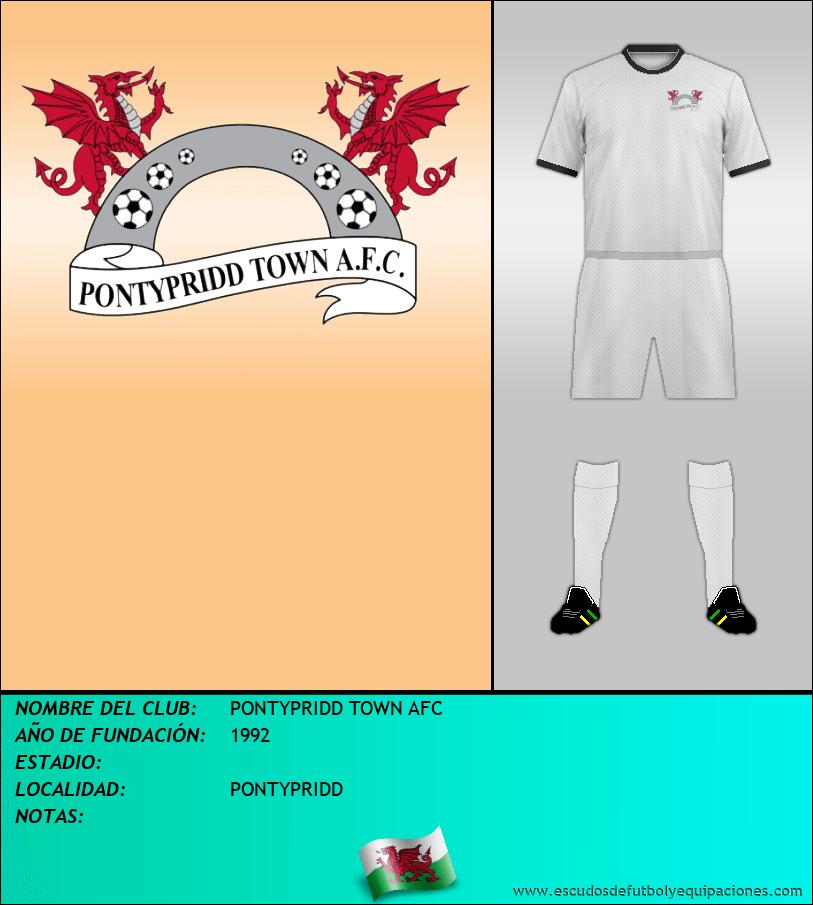 Escudo de PONTYPRIDD TOWN AFC