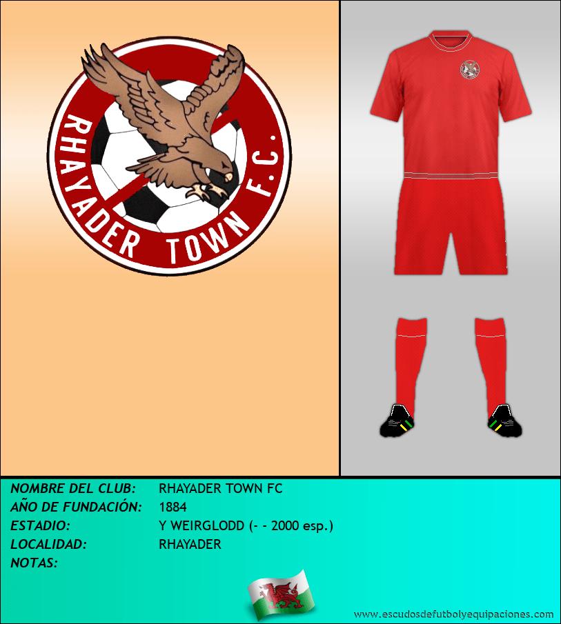 Escudo de RHAYADER TOWN FC