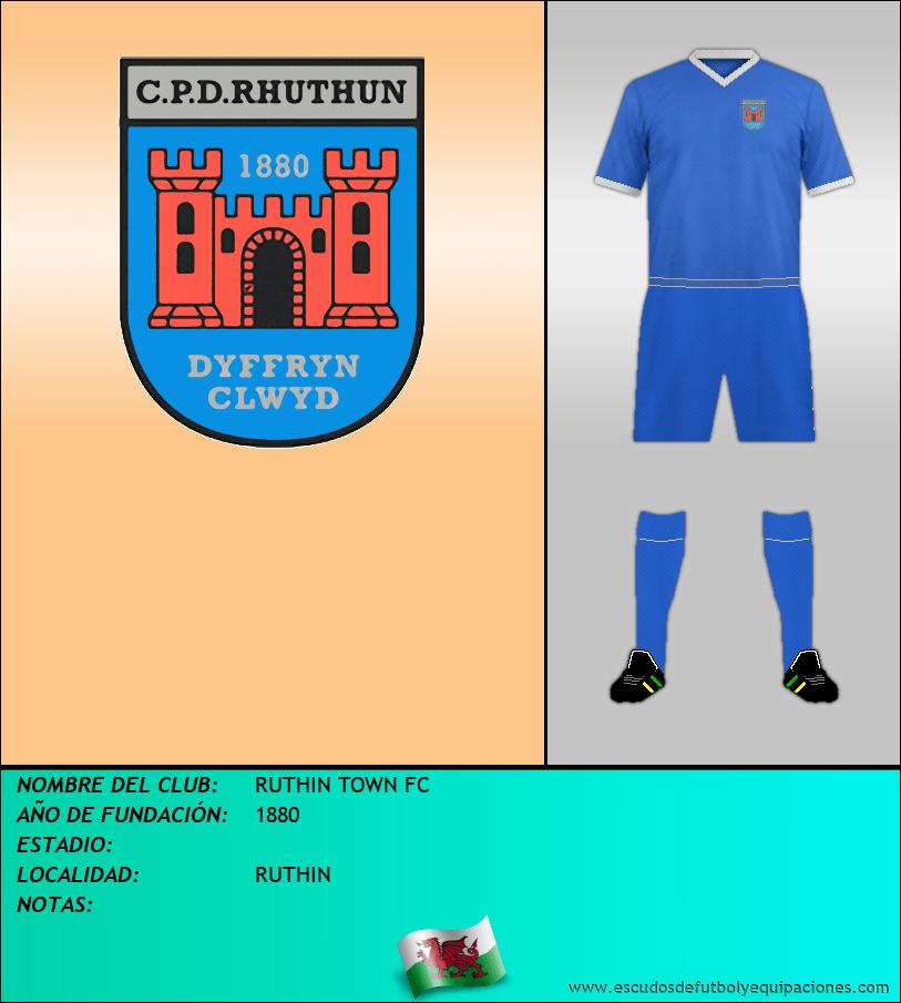 Escudo de RUTHIN TOWN FC
