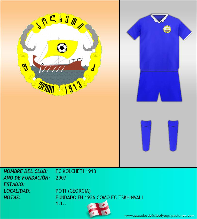Escudo de FC KOLCHETI 1913