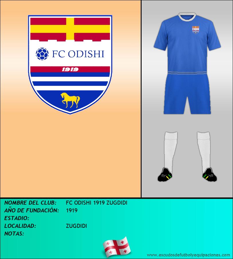 Escudo de FC ODISHI 1919 ZUGDIDI