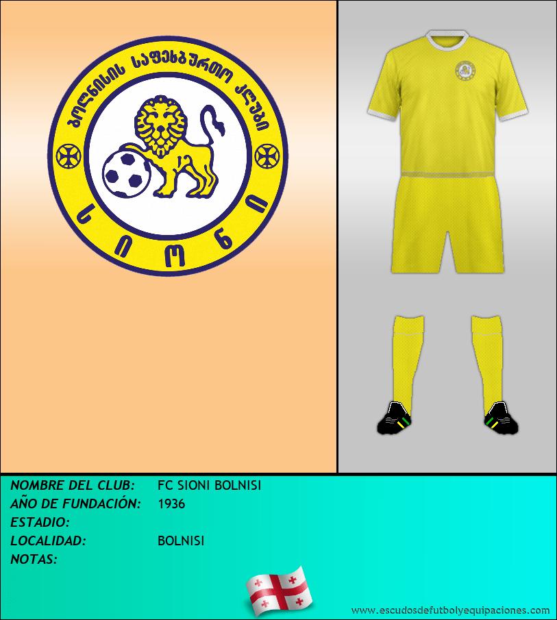 Escudo de FC SIONI BOLNISI