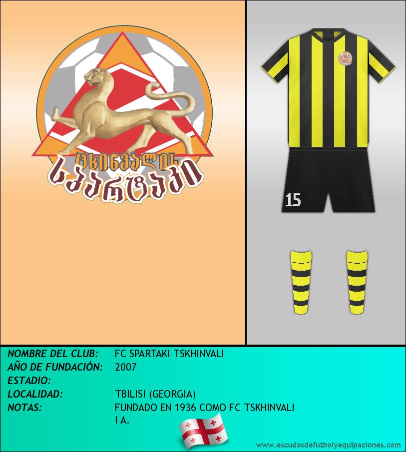 Escudo de FC SPARTAKI TSKHINVALI