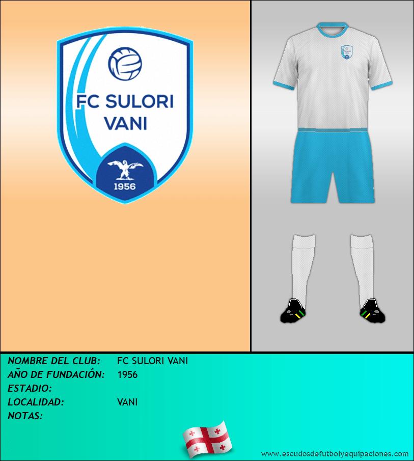 Escudo de FC SULORI VANI