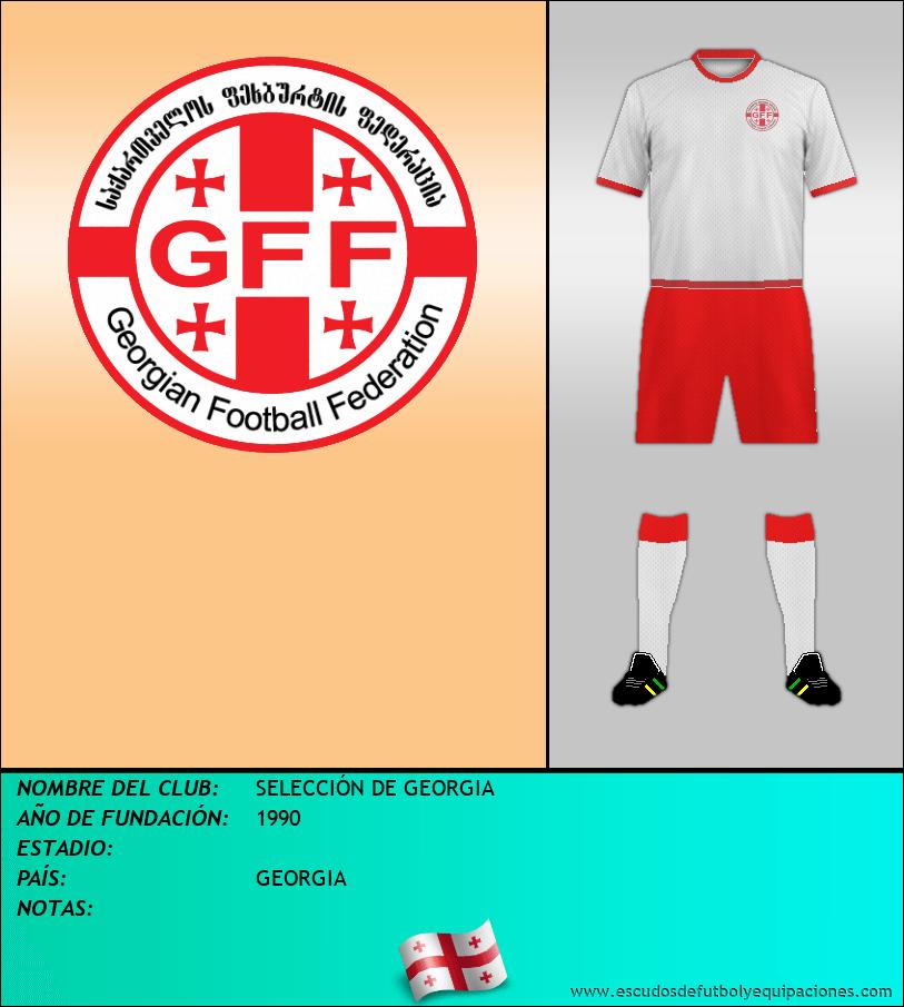 Escudo de SELECCIÓN DE GEORGIA