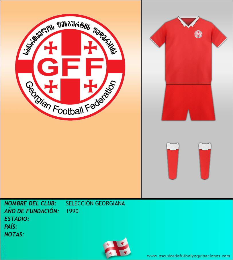 Escudo de SELECCIÓN GEORGIANA