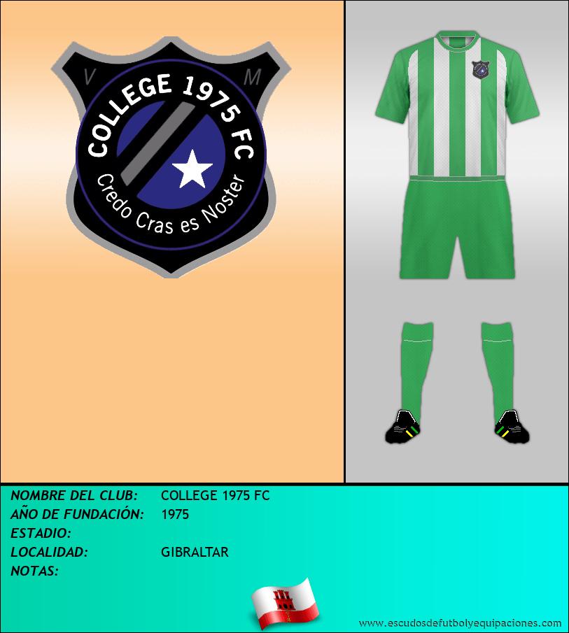 Escudo de COLLEGE 1975 FC