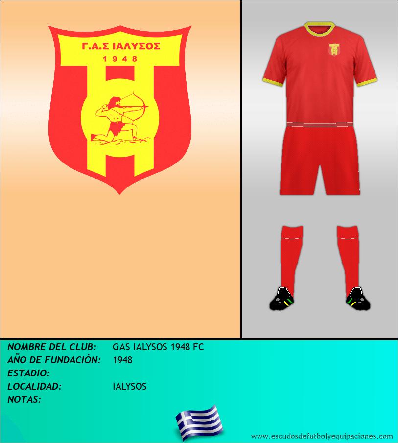 Escudo de GAS IALYSOS 1948 FC