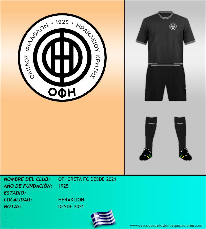 Escudo de OFI CRETA FC DESDE 2021
