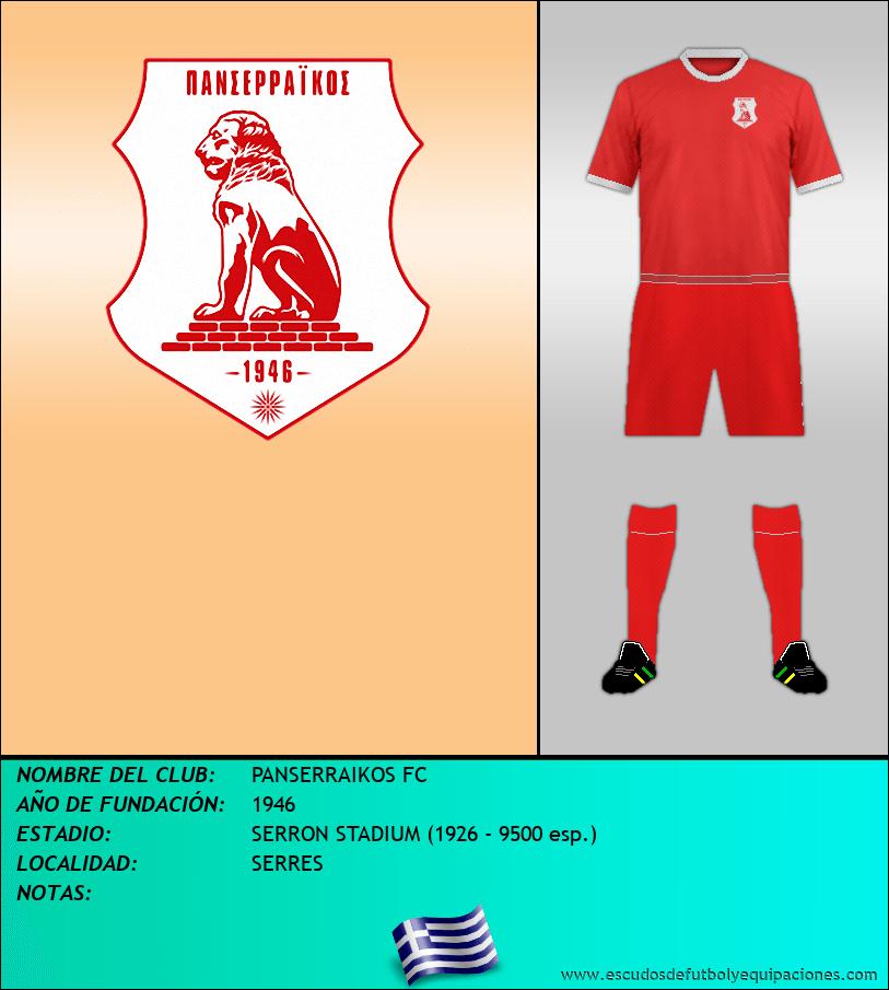 Escudo de PANSERRAIKOS FC