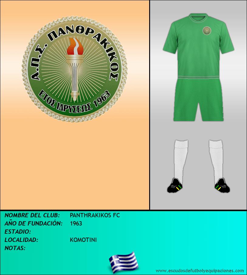 Escudo de PANTHRAKIKOS FC