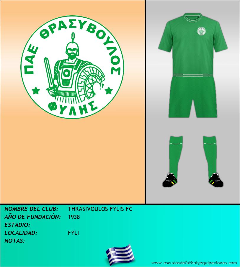 Escudo de THRASIVOULOS FYLIS FC