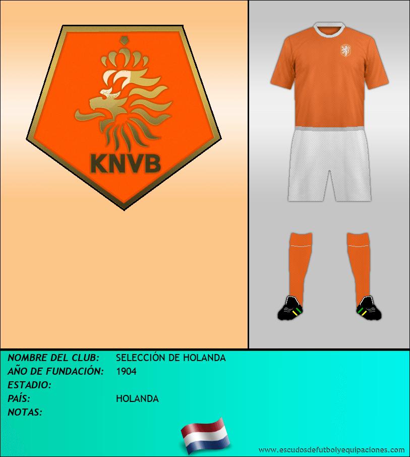 Escudo de SELECCIÓN DE HOLANDA