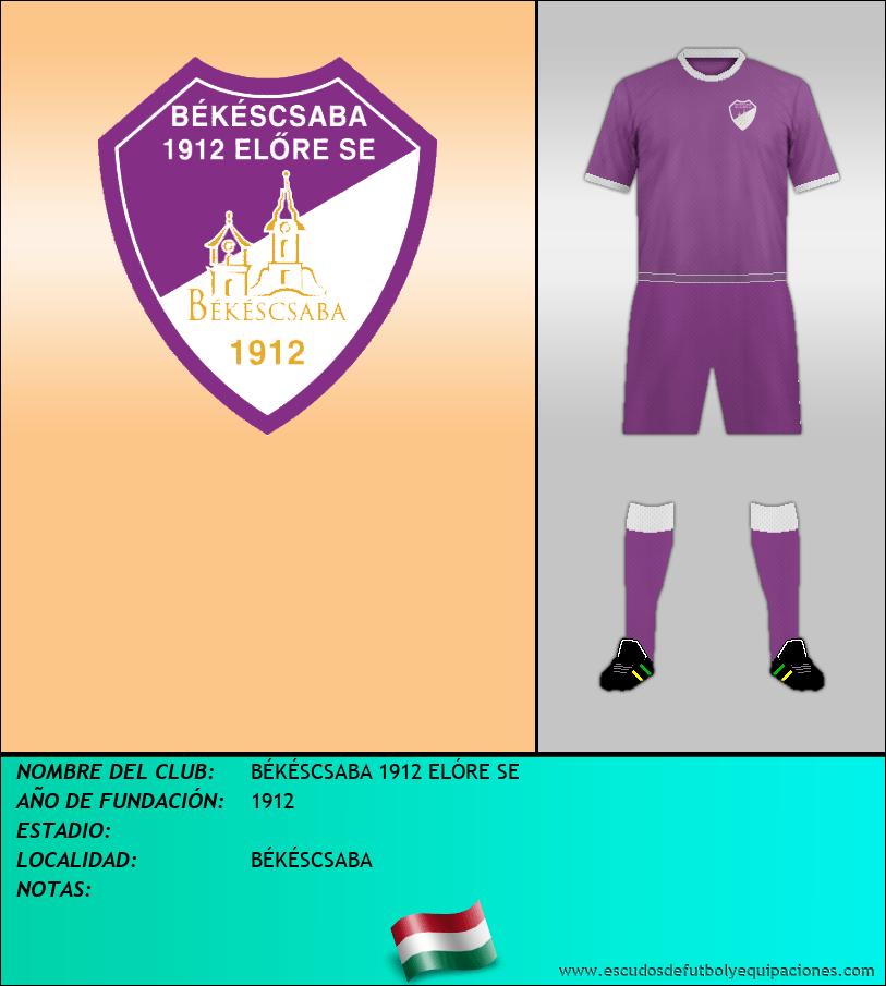 Escudo de BÉKÉSCSABA 1912 ELÓRE SE