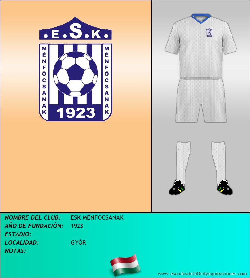 Escudo de ESK MÉNFOCSANAK